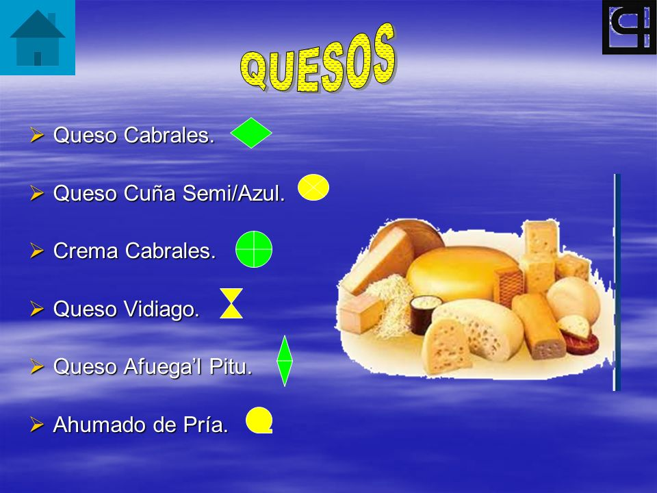 QUESOS Queso Cabrales. Queso Cuña Semi/Azul. Crema Cabrales.