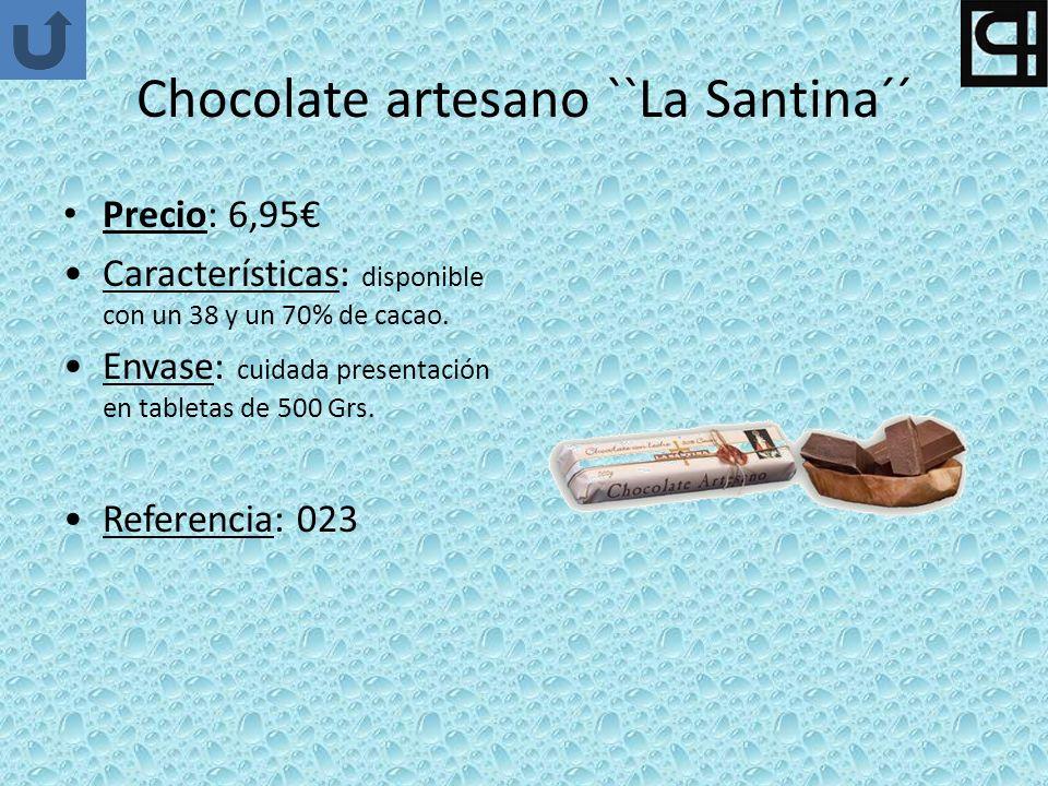 Chocolate artesano ``La Santina´´