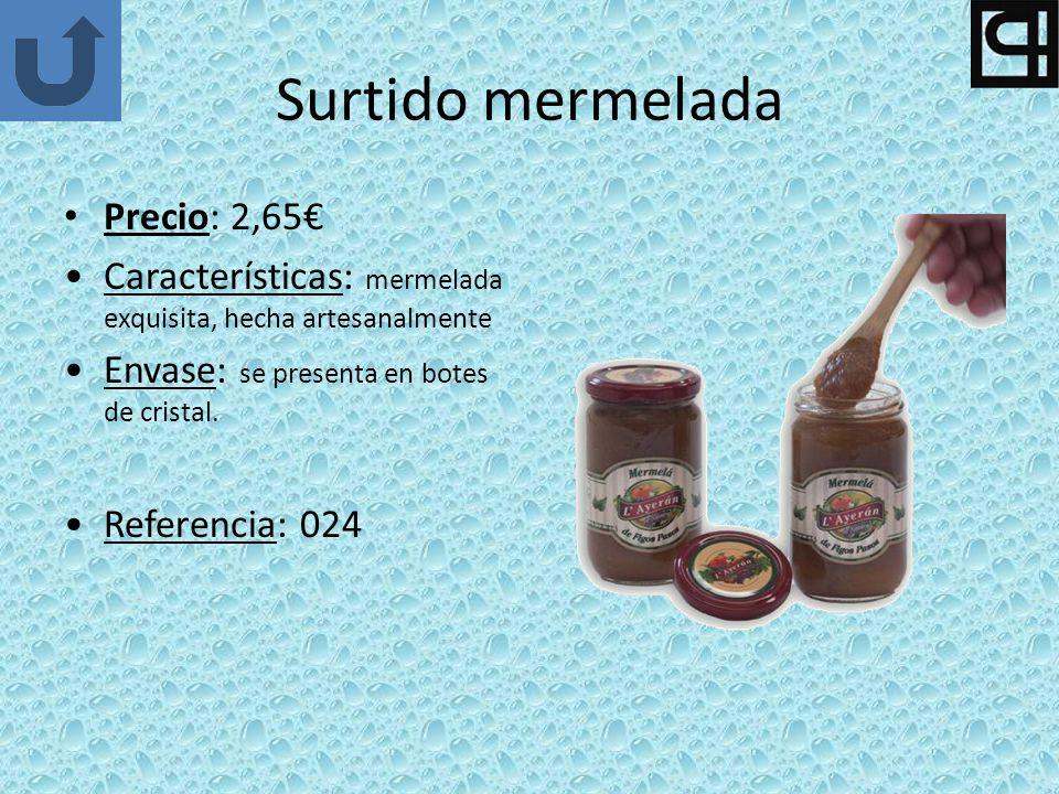 Surtido mermelada Precio: 2,65€