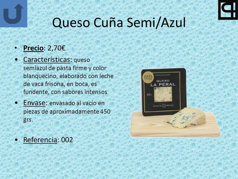 Queso Cuña Semi/Azul Precio: 2,70€