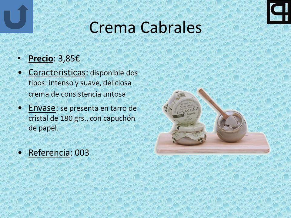 Crema Cabrales Precio: 3,85€