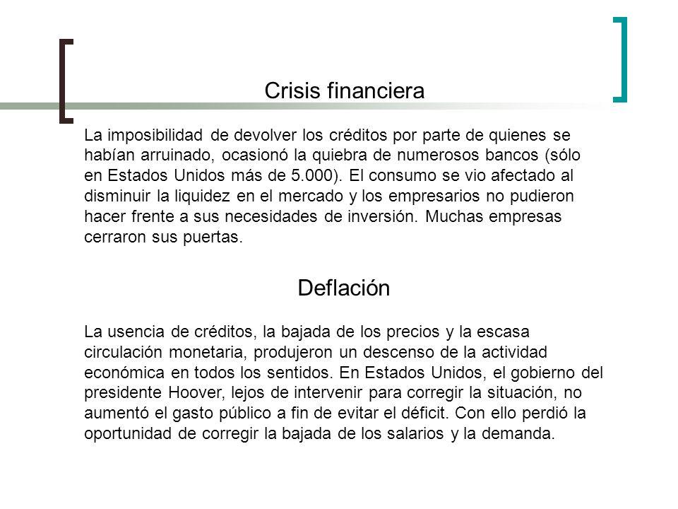 Crisis financiera Deflación