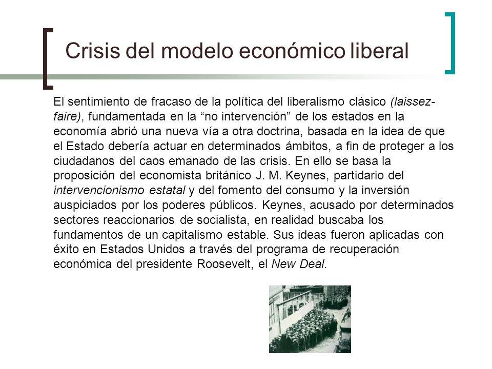 Crisis del modelo económico liberal