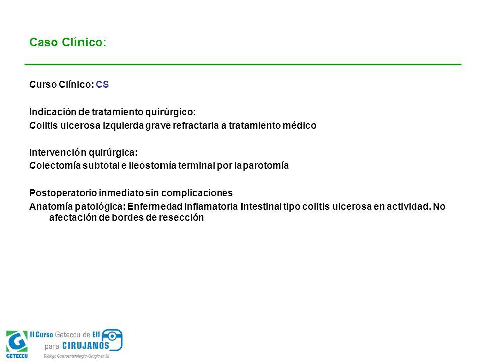 Caso Clínico: Curso Clínico: CS Indicación de tratamiento quirúrgico:
