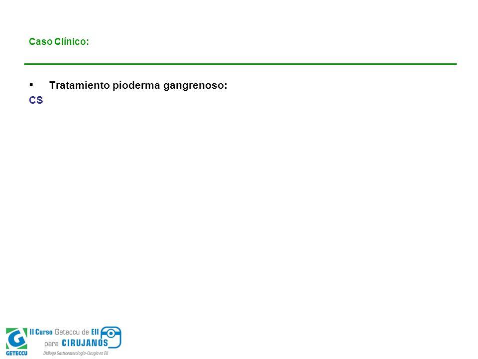 Tratamiento pioderma gangrenoso: CS