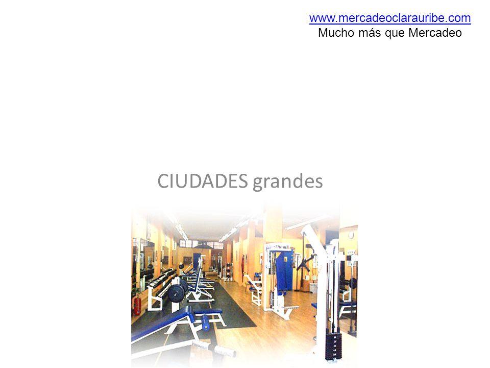 www.mercadeoclarauribe.com Mucho más que Mercadeo CIUDADES grandes
