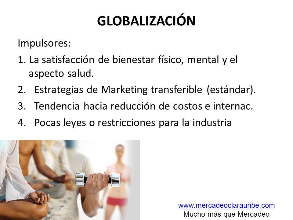 GLOBALIZACIÓN Impulsores: