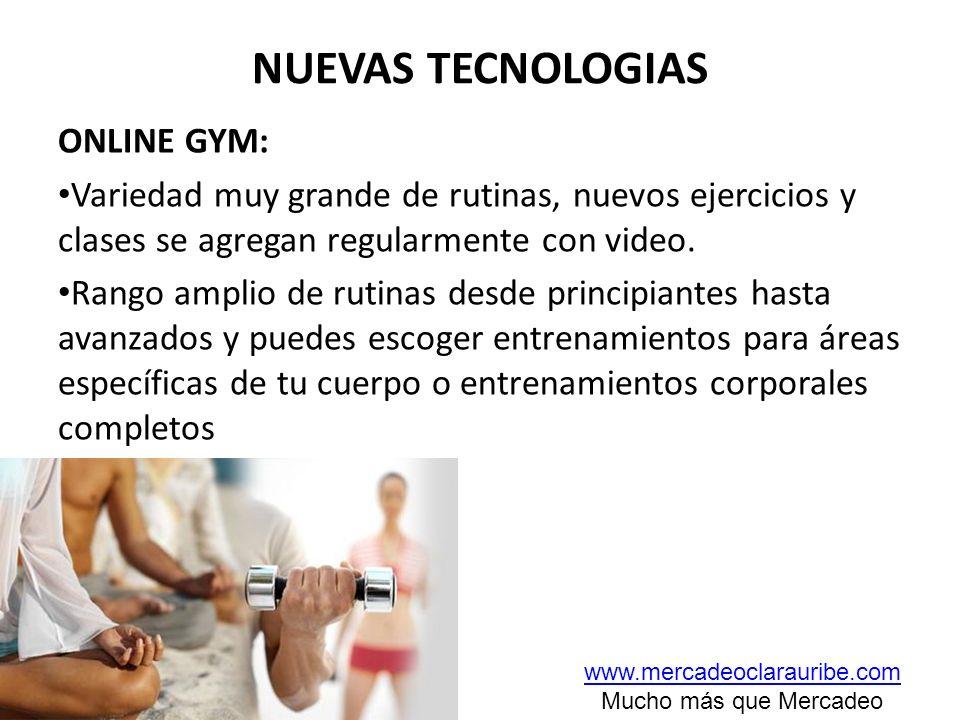 NUEVAS TECNOLOGIAS ONLINE GYM: