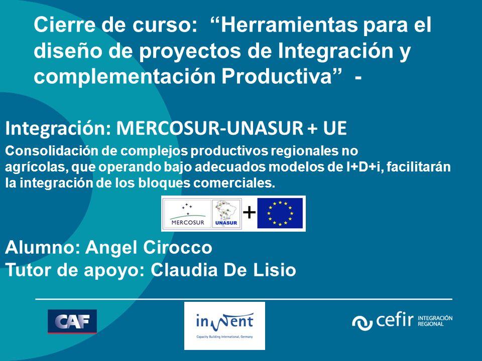 Cierre de curso: Herramientas para el diseño de proyectos de Integración y complementación Productiva -