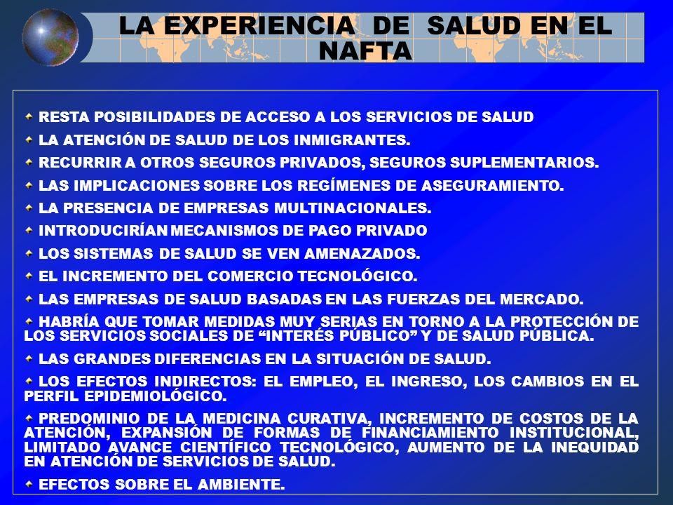 LA EXPERIENCIA DE SALUD EN EL NAFTA