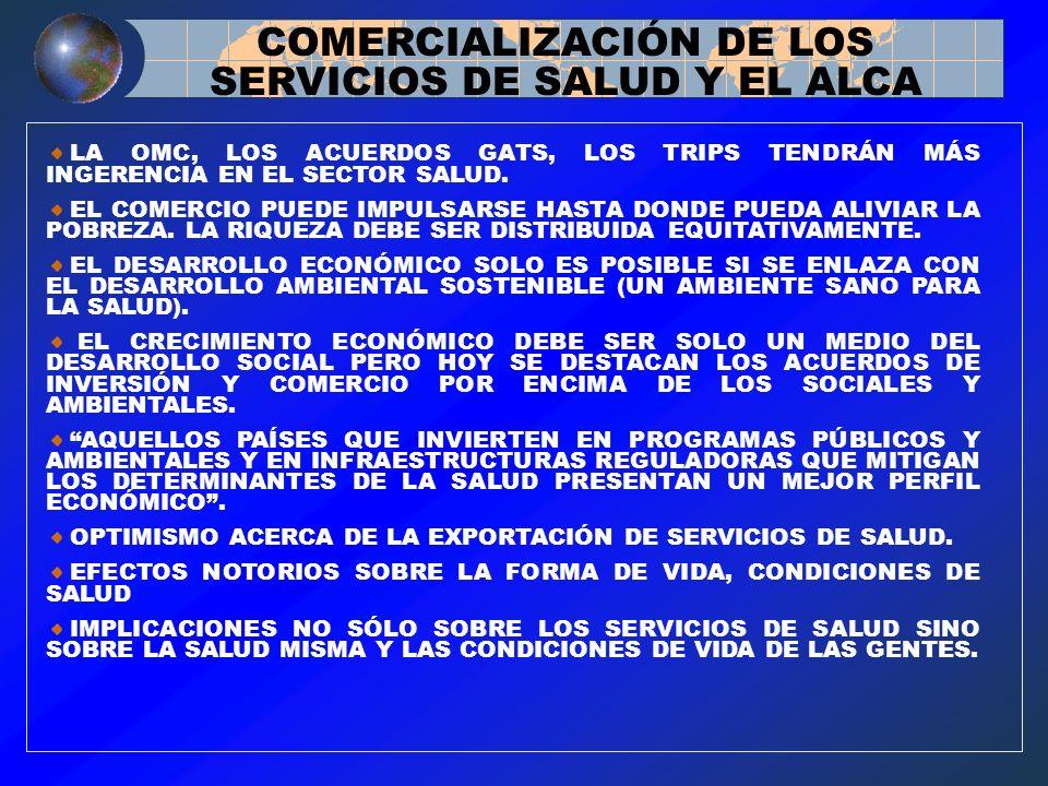 COMERCIALIZACIÓN DE LOS SERVICIOS DE SALUD Y EL ALCA