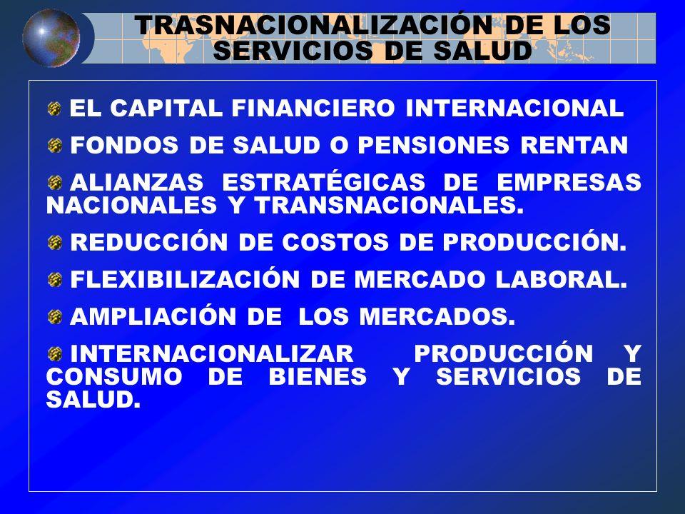 TRASNACIONALIZACIÓN DE LOS SERVICIOS DE SALUD