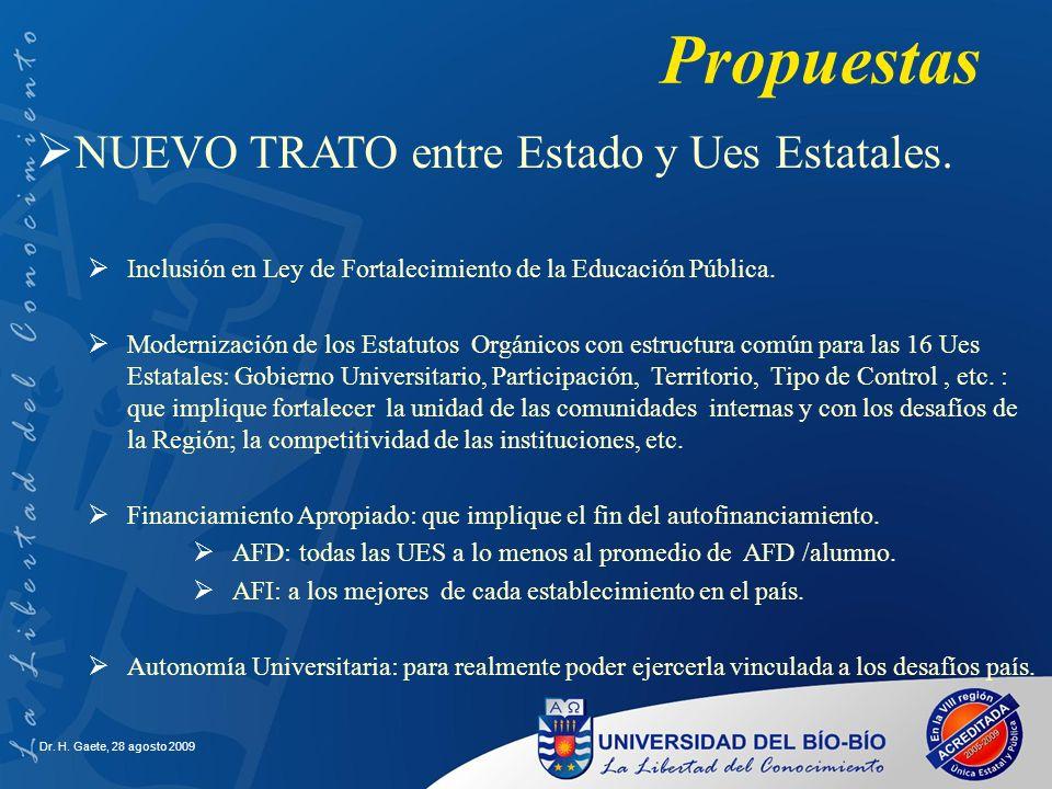 Propuestas NUEVO TRATO entre Estado y Ues Estatales.