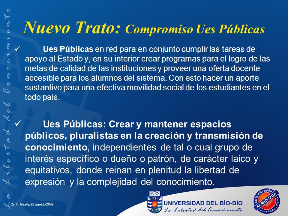 Nuevo Trato: Compromiso Ues Públicas