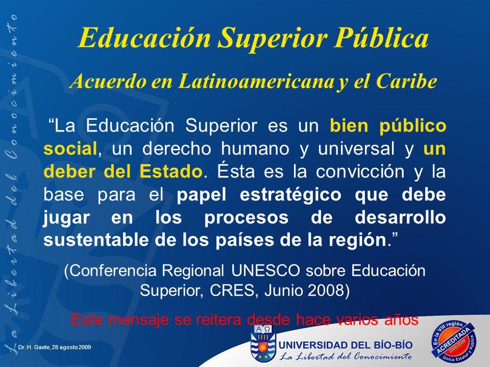 Educación Superior Pública Acuerdo en Latinoamericana y el Caribe