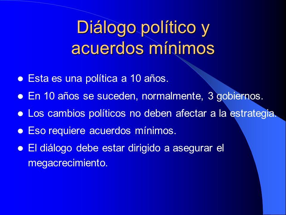 Diálogo político y acuerdos mínimos