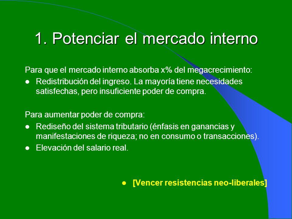 1. Potenciar el mercado interno