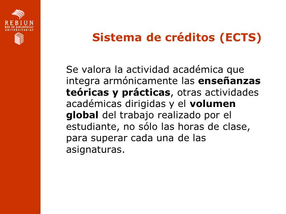 Sistema de créditos (ECTS)