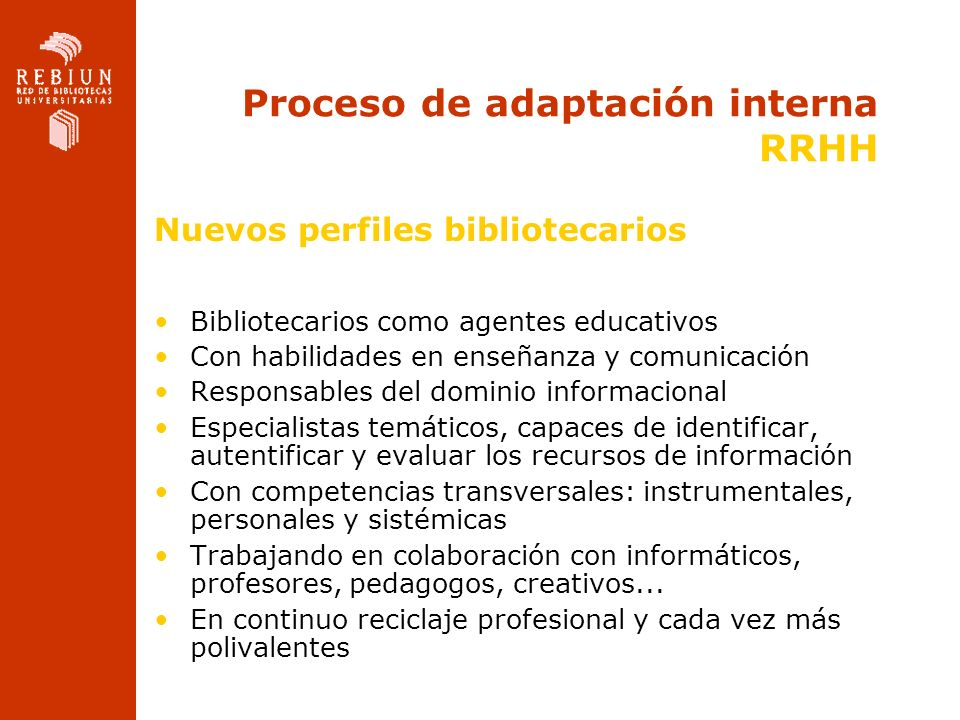 Proceso de adaptación interna RRHH