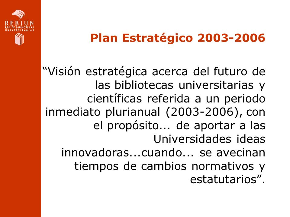 Plan Estratégico 2003-2006