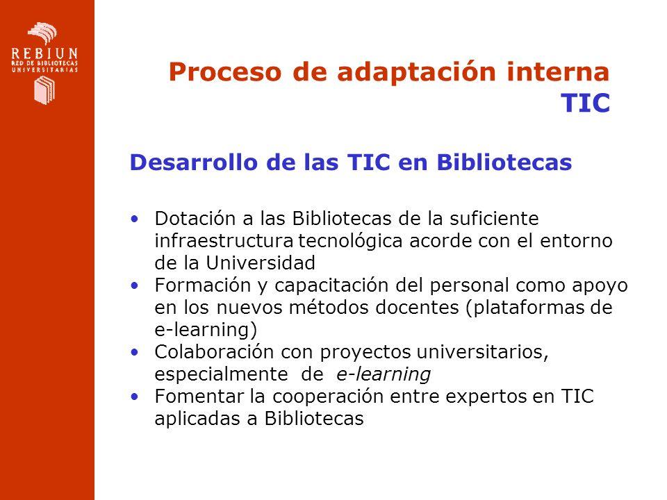 Proceso de adaptación interna TIC