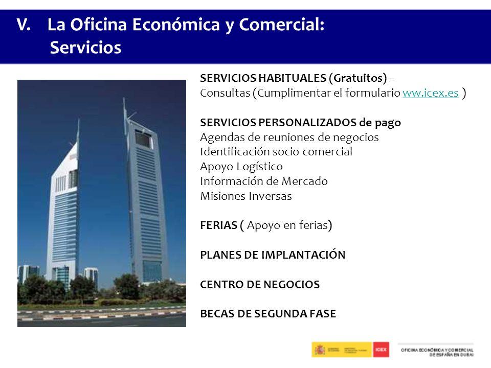 V. La Oficina Económica y Comercial: Servicios