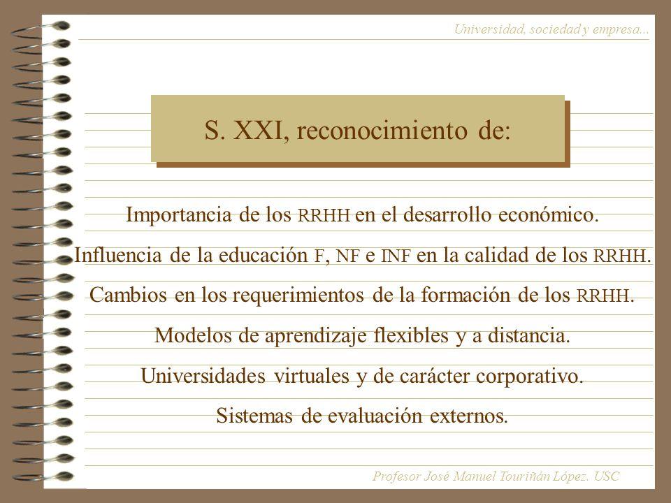 S. XXI, reconocimiento de: