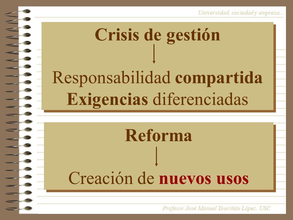 Crisis de gestión Responsabilidad compartida Exigencias diferenciadas