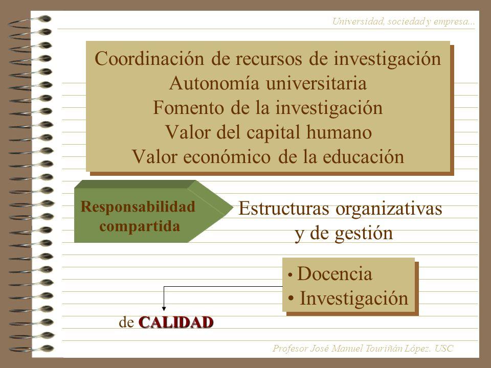Estructuras organizativas y de gestión