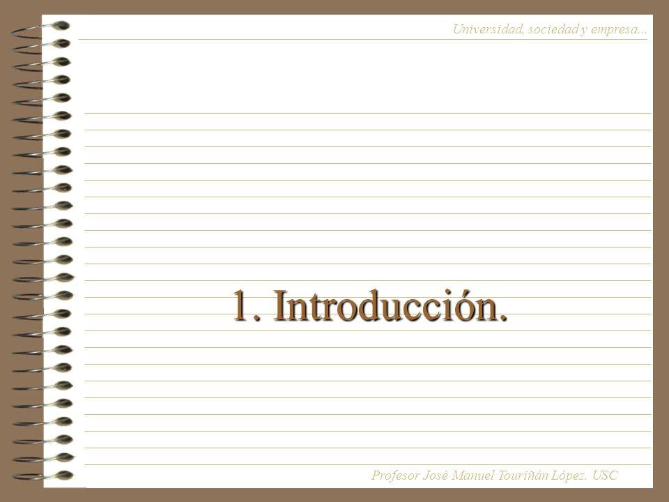 1. Introducción. Universidad, sociedad y empresa...