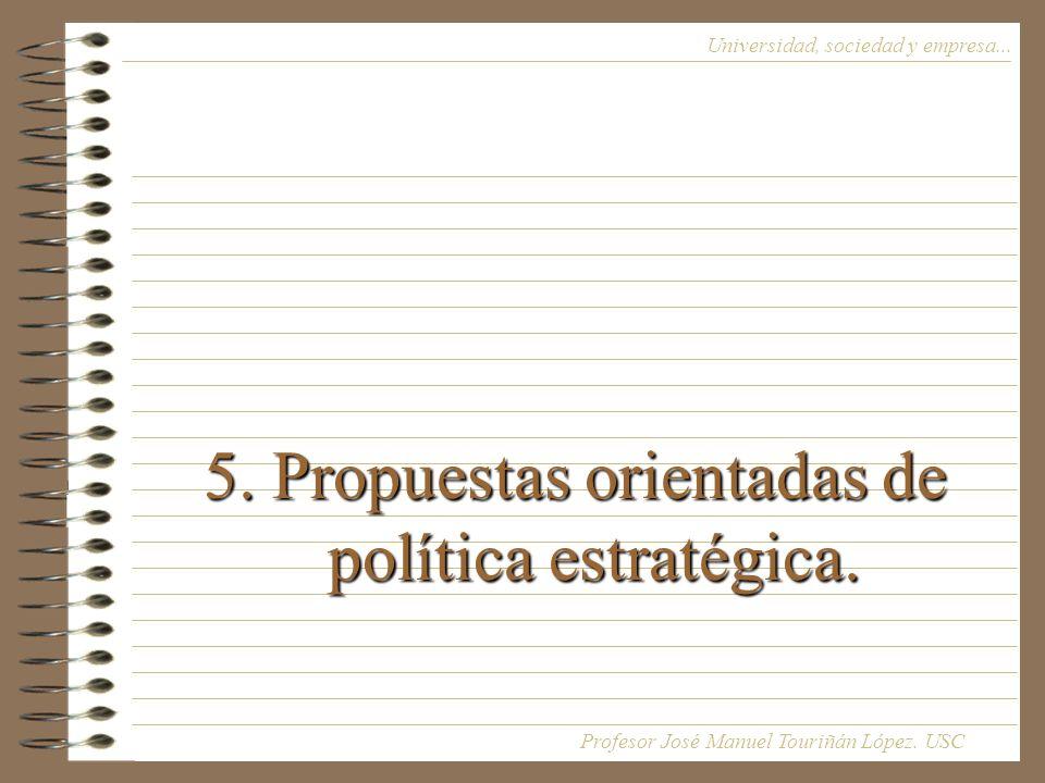 5. Propuestas orientadas de política estratégica.
