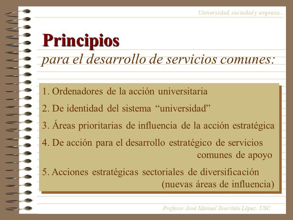 Principios para el desarrollo de servicios comunes: