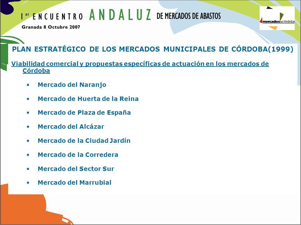 PLAN ESTRATÉGICO DE LOS MERCADOS MUNICIPALES DE CÓRDOBA(1999)