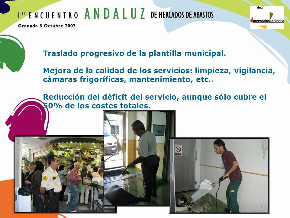 Traslado progresivo de la plantilla municipal.