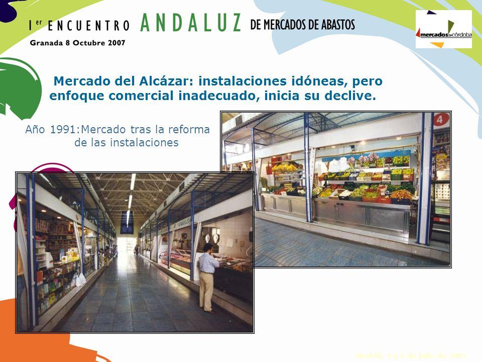 Año 1991:Mercado tras la reforma de las instalaciones