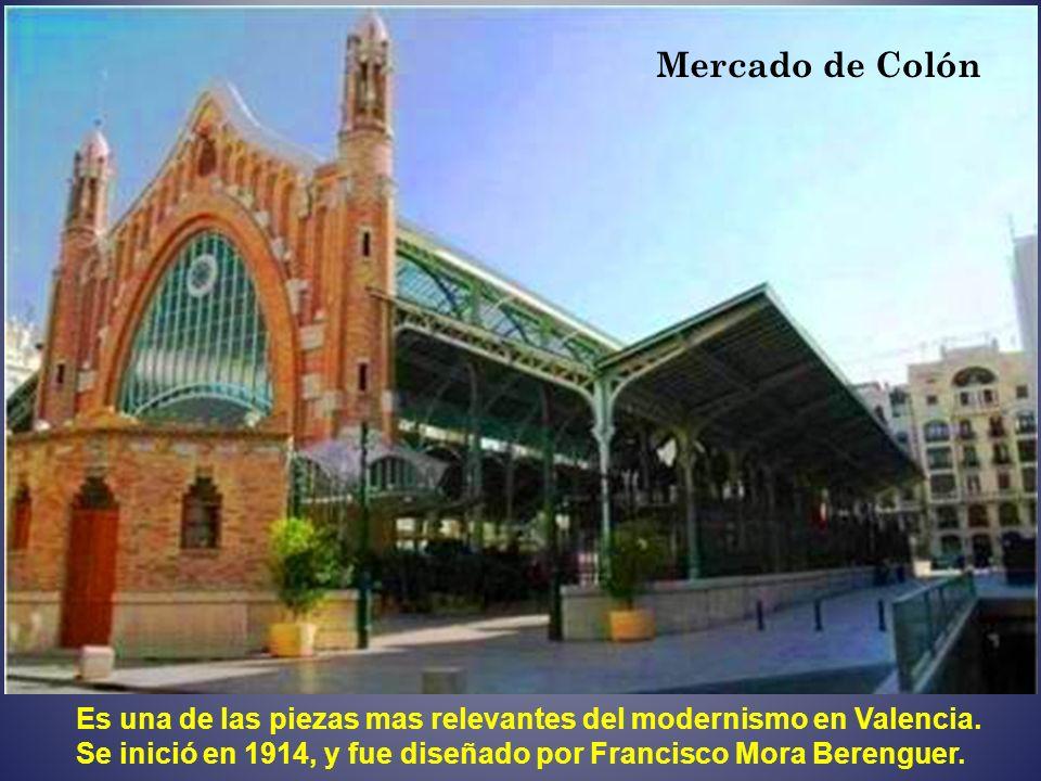 Mercado de ColónEs una de las piezas mas relevantes del modernismo en Valencia.