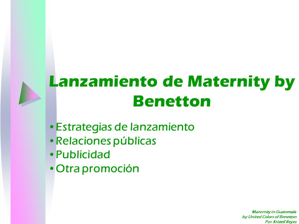 Lanzamiento de Maternity by Benetton