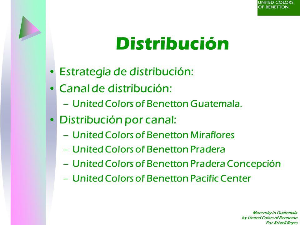 Distribución Estrategia de distribución: Canal de distribución: