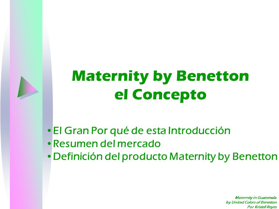 Maternity by Benetton el Concepto
