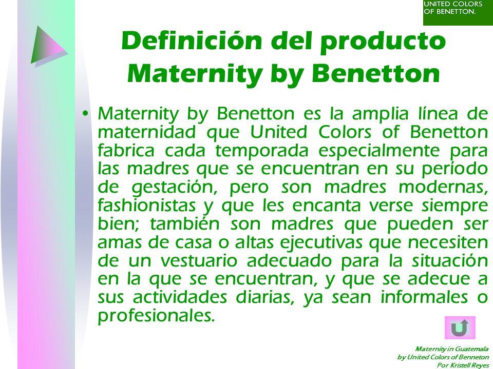 Definición del producto Maternity by Benetton