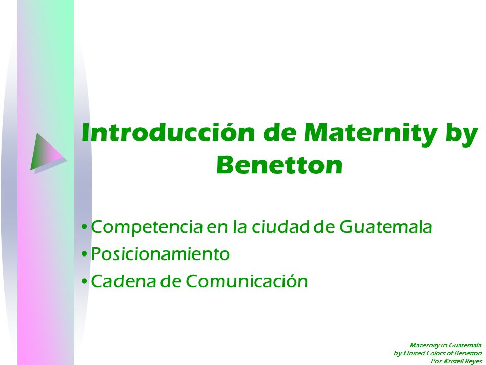 Introducción de Maternity by Benetton