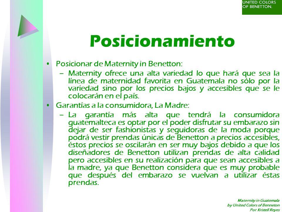 Posicionamiento Posicionar de Maternity in Benetton: