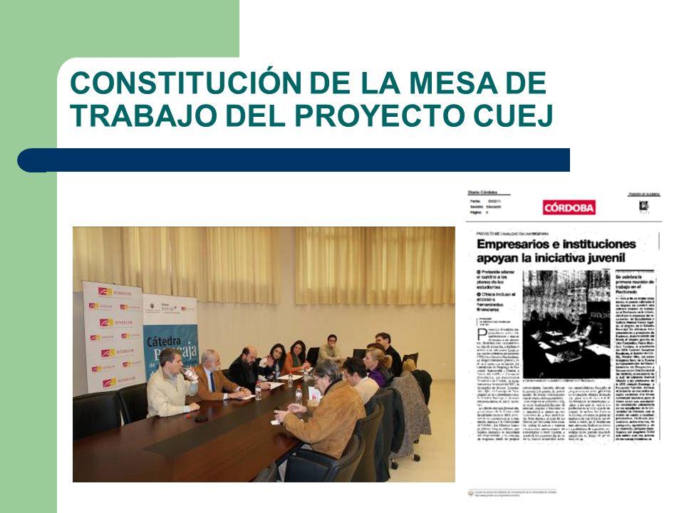 CONSTITUCIÓN DE LA MESA DE TRABAJO DEL PROYECTO CUEJ