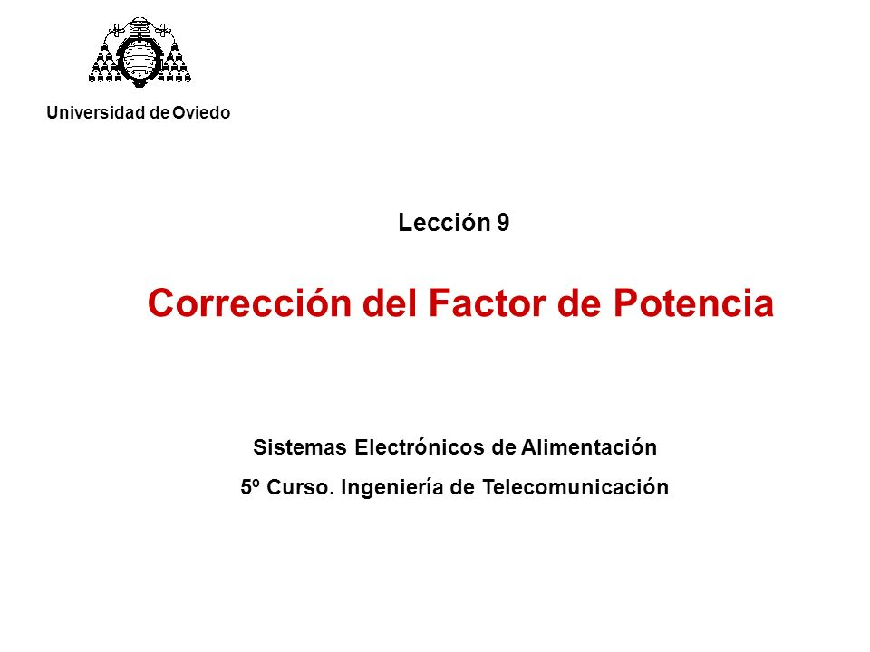 Corrección del Factor de Potencia