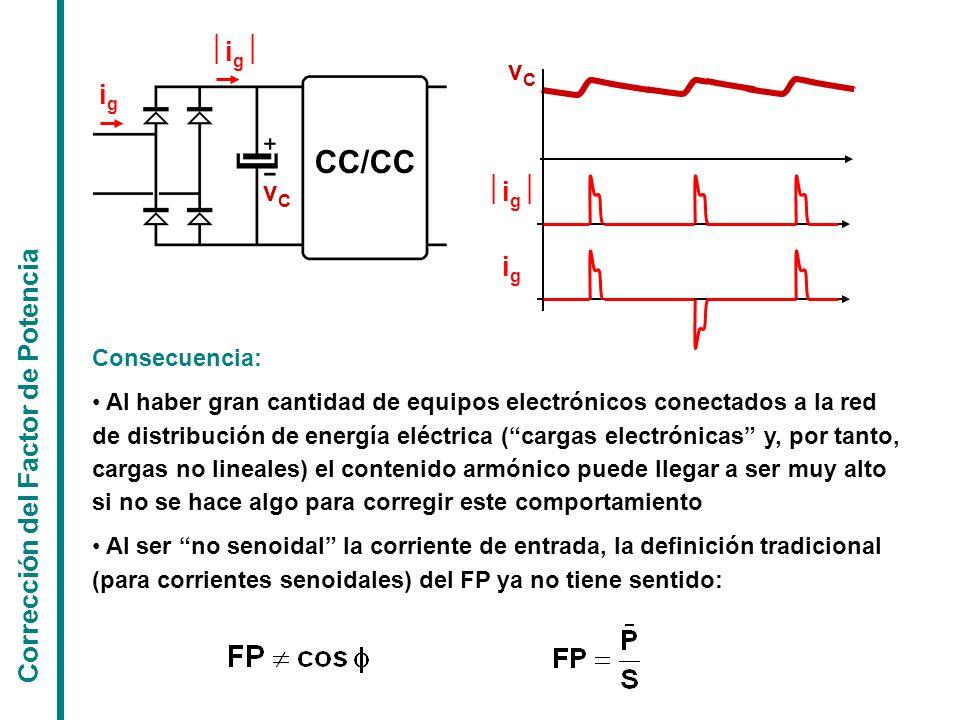 CC/CC ½ig½ vC ig vC ½ig½ ig Corrección del Factor de Potencia