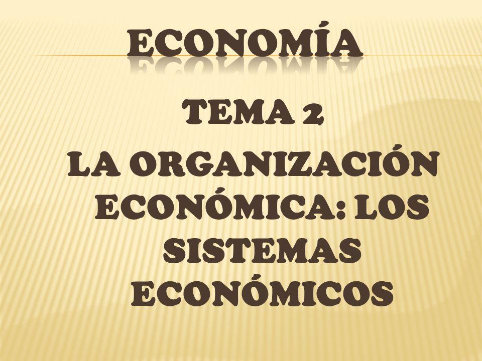 TEMA 2 LA ORGANIZACIÓN ECONÓMICA: LOS SISTEMAS ECONÓMICOS