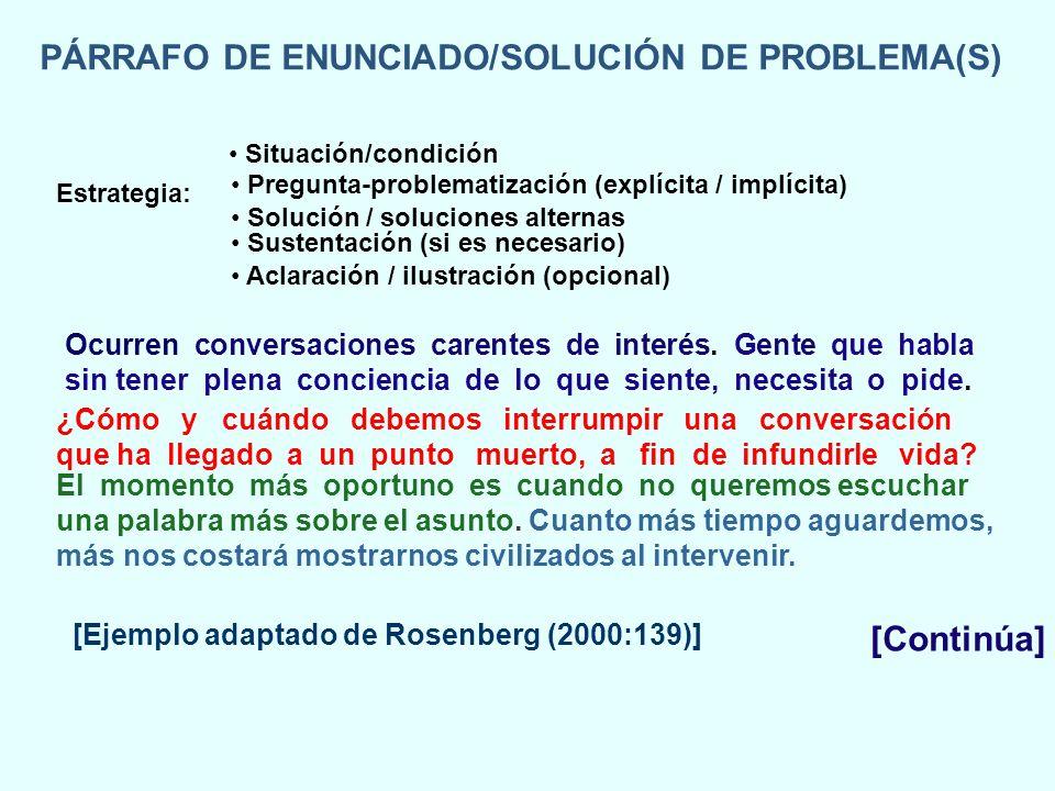 PÁRRAFO DE ENUNCIADO/SOLUCIÓN DE PROBLEMA(S)