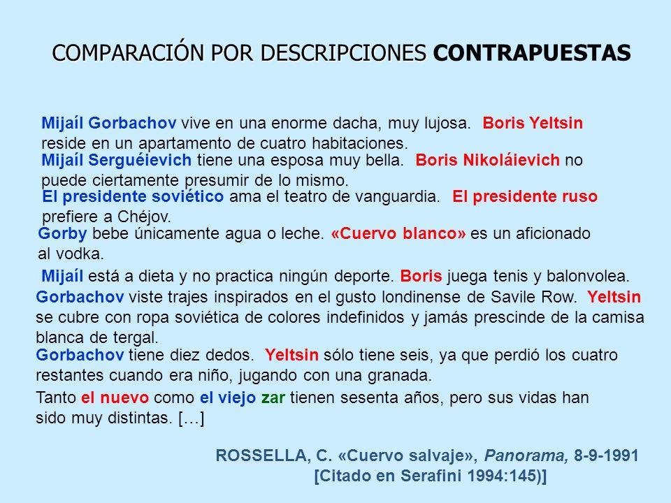 COMPARACIÓN POR DESCRIPCIONES CONTRAPUESTAS