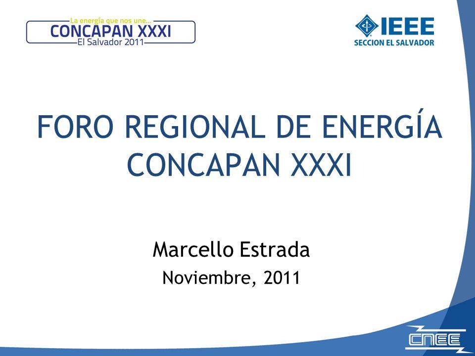 FORO REGIONAL DE ENERGÍA CONCAPAN XXXI