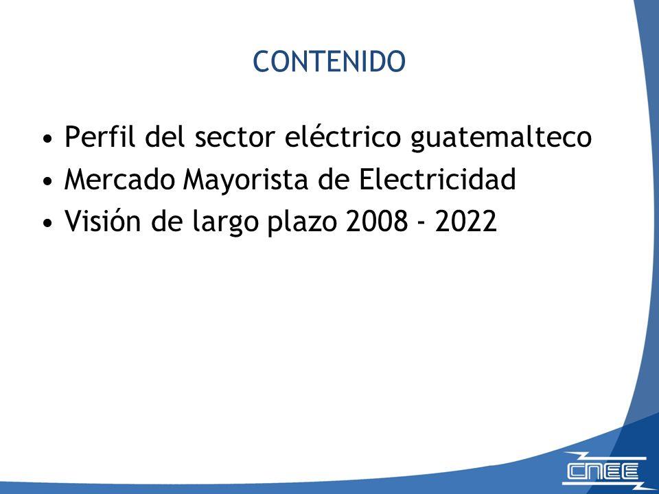CONTENIDO Perfil del sector eléctrico guatemalteco.